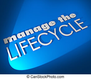 sviluppare, processo, amministrare, vendite, parole, lifecycle, procedura, 3d
