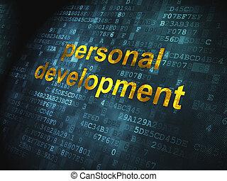 sviluppo, personale, fondo, digitale, educazione, concept: