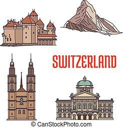 svizzera, costruzioni, storico, architettura