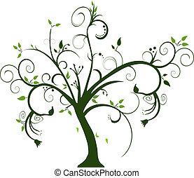swirly, albero