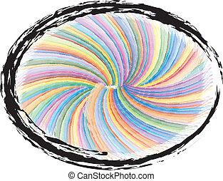 swirly, grunge, colorito, fondo