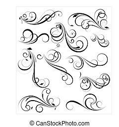 swirly, vectors, disegni elementi