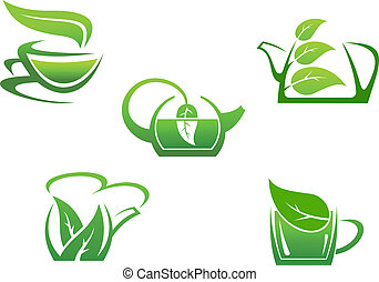 tè erbaceo, campanelle, verde