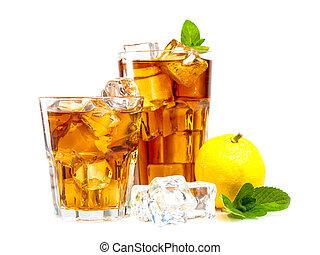 tè, ghiaccio