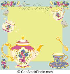 tè, ricevimento aperto, invito