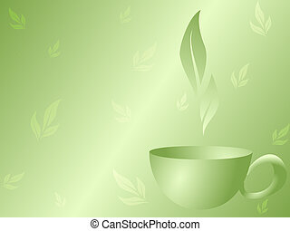 tè, sfondo verde