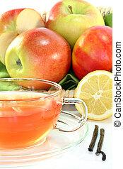 tè, vaniglia, limone, mela