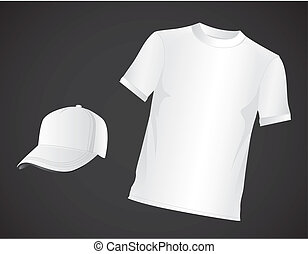 t-shirt, bianco, berretto