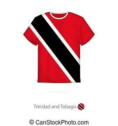 t-shirt, disegno, trinidad, tobago., bandiera