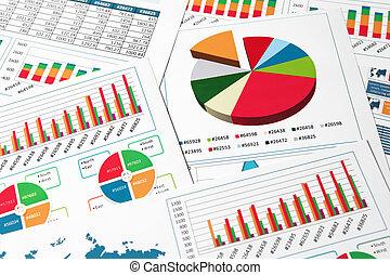 tabelle, grafici, carta, relazione