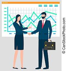tabelle, riunione affari, consoci, whiteboard