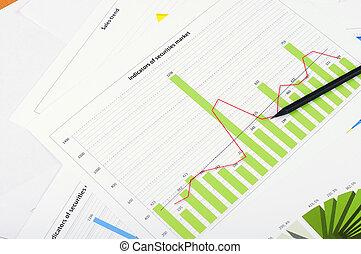 tabelle, vendite, grafici