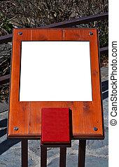 tabellone, legno, vuoto