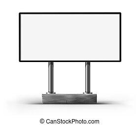tabellone, pubblicità, vuoto