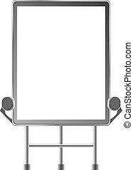 tabellone, sopra, esterno, bianco, grande