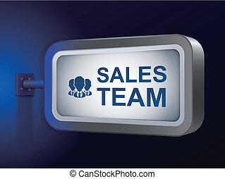 tabellone, vendite, parole, squadra