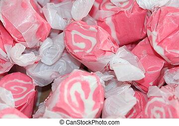 taffy, caramella, rosa
