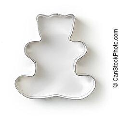 tagliatore, biscotto, isolato, sopra, bianco