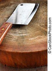 tagliere, coltello