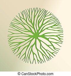 taglio, albero, ambiente, concetto, verde, carta