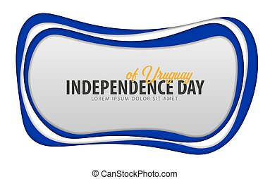 taglio, card., uruguay., augurio, giorno, carta, style., indipendenza