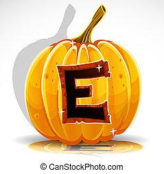 taglio, e, halloween, pumpkin., font, fuori