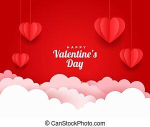 taglio, giorno, scheda, valentines, stile, augurio, carta