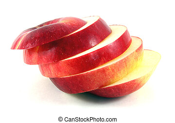 taglio, mela affettano