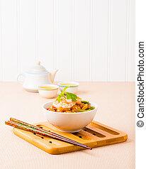 tailandese, cuscinetto, gamberetto