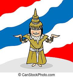 tailandia, benvenuto, persone