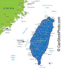 taiwan, mappa
