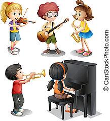 talenti, bambini, musicale