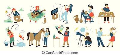 talenti, hobby, ozio, abilità, attività