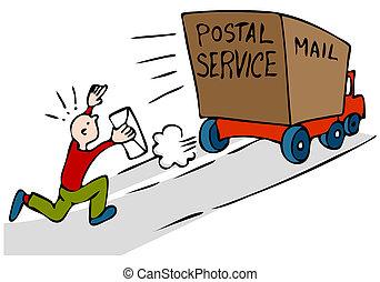 tardi, urgente, posta