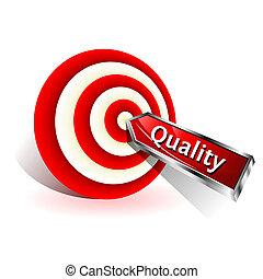 target., concept., segno, colpire, vettore, freccetta, qualità, rosso