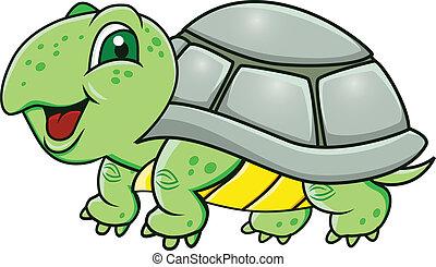 tartaruga, cartone animato