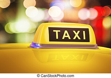 tassì, automobile, segno giallo