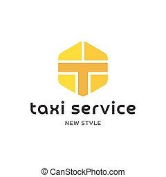 tassì, servizio, segno, logos, appartamento, minimalismo, illustrazione, astratto, moderno, geometrico