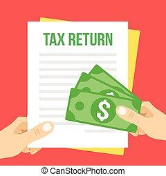 tassa, appartamento, illustrazione, ritorno