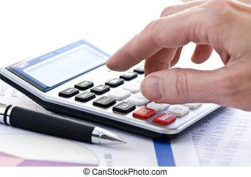 tassa, penna, calcolatore