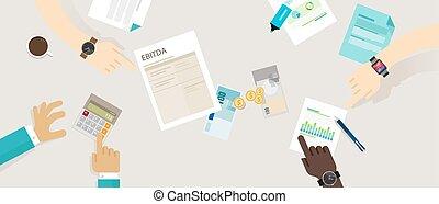 tasse, amortization, prima, interesse, ebitda, deprezzamento, guadagni