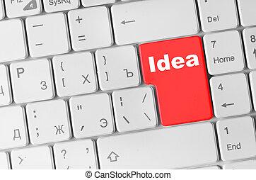 tastiera computer, idea