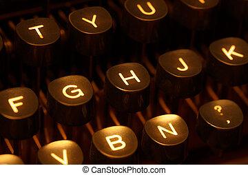 tastiera, macchina scrivere