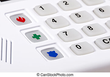 tastiera, sicurezza, casa, allarme