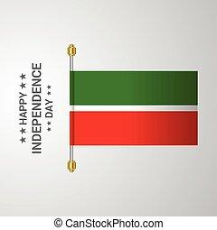 tatarstan, bandiera, fondo, appendere, giorno, indipendenza