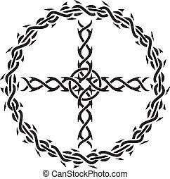 tatuaggio, croce