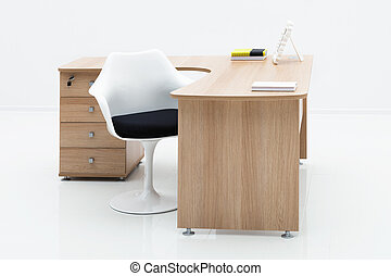 tavola, bianco, sedia