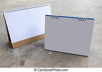 tavola, calendario, vuoto