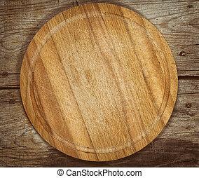 tavola legno, taglio, vecchio, asse