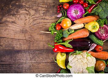tavola legno, verdura